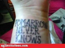 Tomorrow Never Knows How to Spell