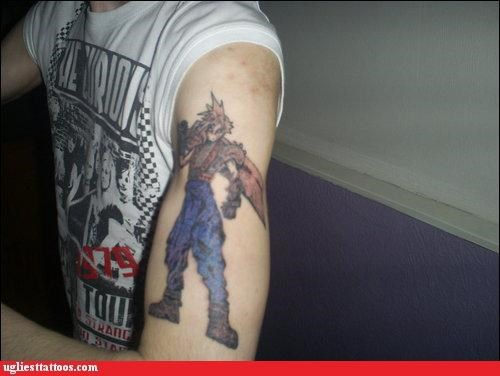 wtf,final fantasy,cloud strife,tattoos