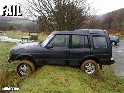 Off-Roading Fail