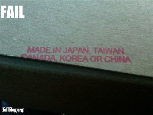 Made In... Fail