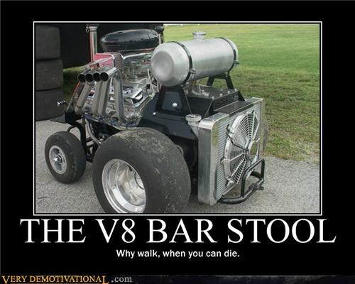 THE V8 BAR STOOL