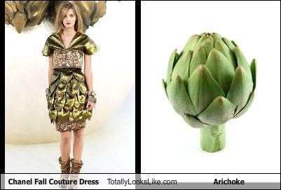Chanel Fall Couture Dress Totally Looks Like Arichoke