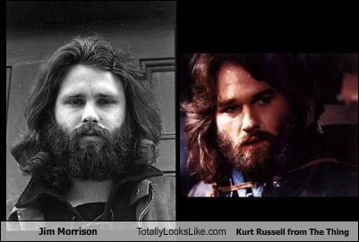 Jim Morrison Totally Looks Like Kurt Russell from The Thing