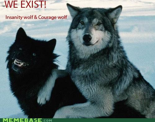 The Internet IRL: Insanity Wolf & Courage Wolf