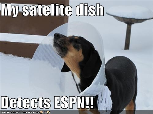 My satelite dish  Detects ESPN!!