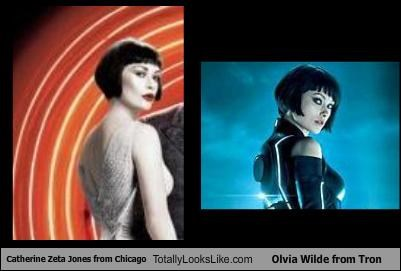 Catherine Zeta Jones from Chicago Totally Looks Like Olvia Wilde from Tron