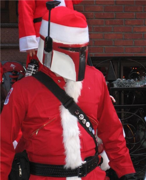 christmas,darth vader,Hall of Fame,light saber,nerdgasm,santa,sci fi,star wars,stormtrooper