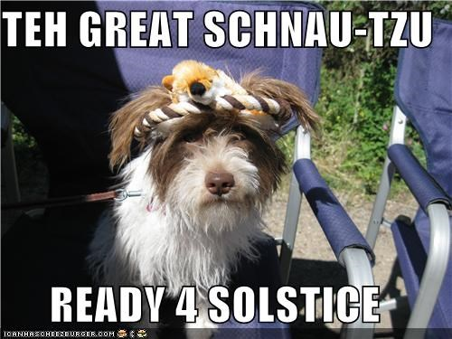 TEH GREAT SCHNAU-TZU  READY 4 SOLSTICE