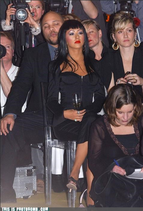 caught in the act,christina aguilera,dude,love,Perfect Timing,photobomb