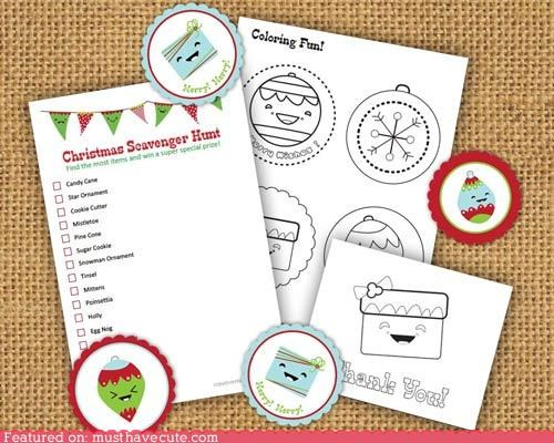 Kawaii Christmas Activity Kit
