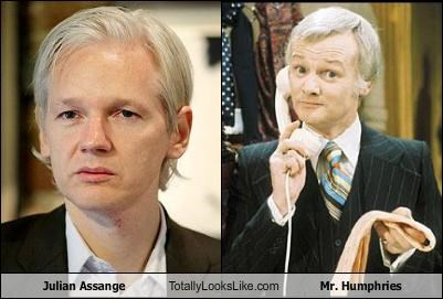 Julian Assange Totally Looks Like Mr. Humphries