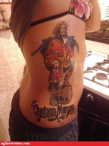 logos,captain morgan,brands,tattoos
