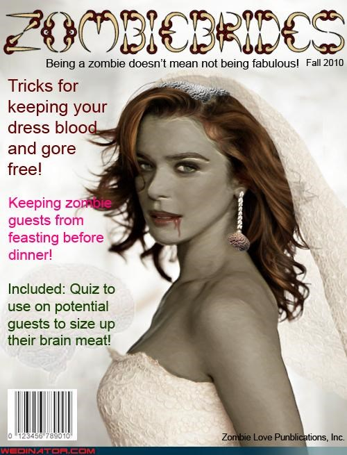 Mock Bridal Magazine Contest Honorable Mention: Zombie Brides!