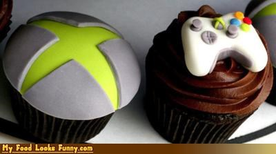 Funny Food Photos - Xbox Cupcakes