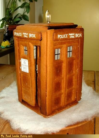 doctor who,gingerbread,phone booth,tardis