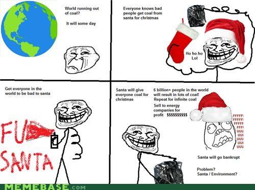 coal,comics,santa,troll face