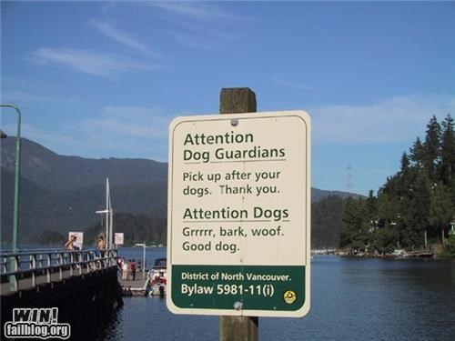 Dog Sign WIN