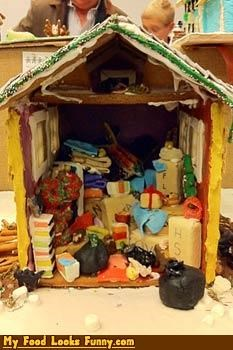 Funny Food Photos - Gingerbread Hoarders House