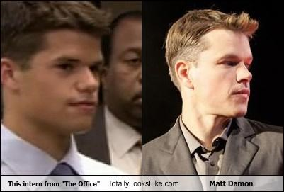 "This intern from ""The Office"" Totally Looks Like Matt Damon"