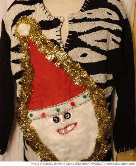 Creepy Santa Sweater is Creepy