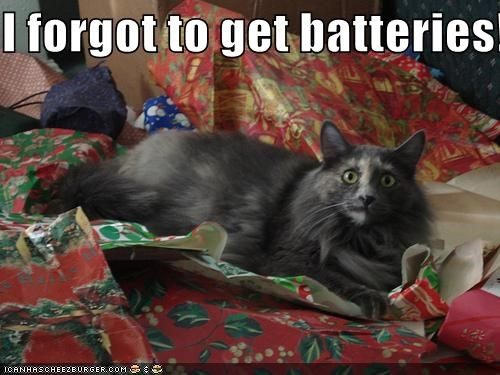I forgot to get batteries!