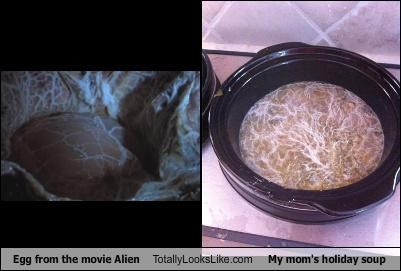 Egg from the movie Alien Totally Looks Like My mom's holiday soup