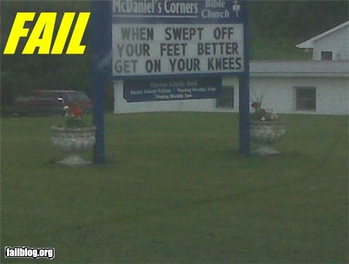 Church has a dirty mind.