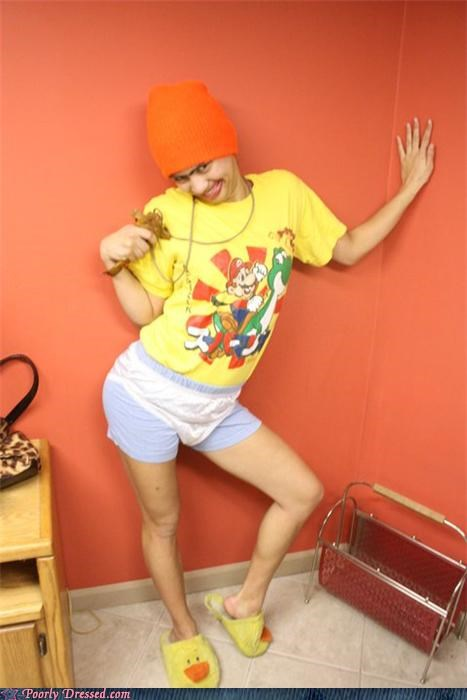 creeptastic,eww,hat,mario bros,scary,slippers,underwear