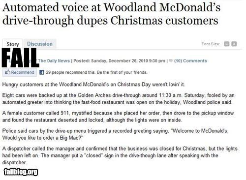 McDonald's Customer Fail