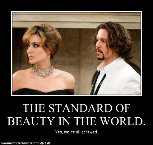 actor,Angelina Jolie,celeb,demotivational,funny,Johnny Depp