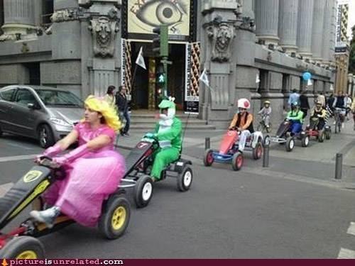 IRL,mario,Mario Kart,racing,streets,toad,video games,wtf