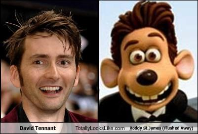 David Tennant Totally Looks Like Roddy St.James (Flushed Away)