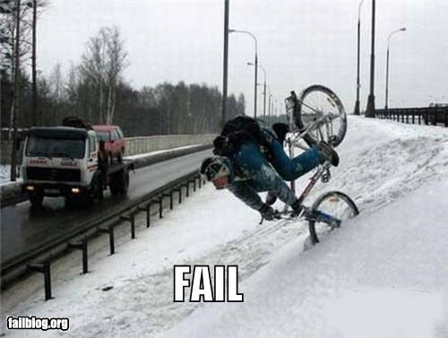 Snow Biking FAIL