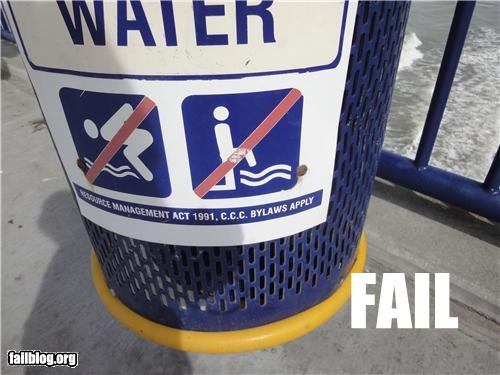 failboat,g rated,gross,peeing,pools,signs,urine,weird