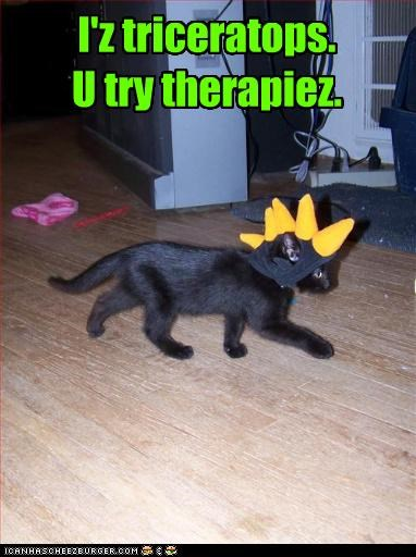 I'z triceratops. U try therapiez.