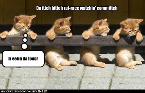 Da itteh bitteh rat-race watchin' committeh
