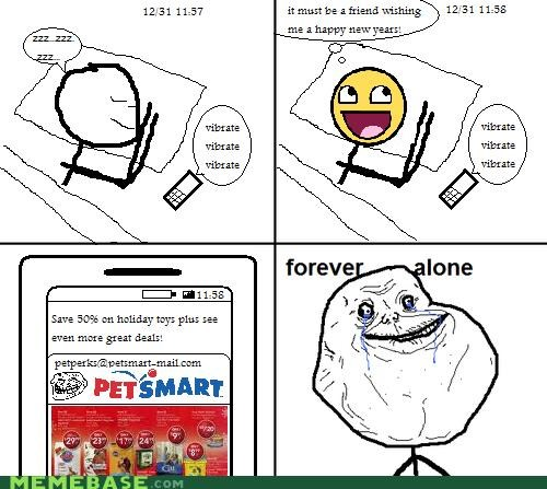memes - Forever Alone: Happy New Years!