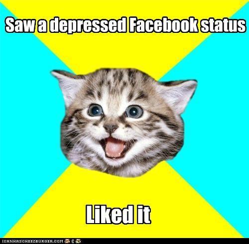 Happy Kitten: Likes your misery