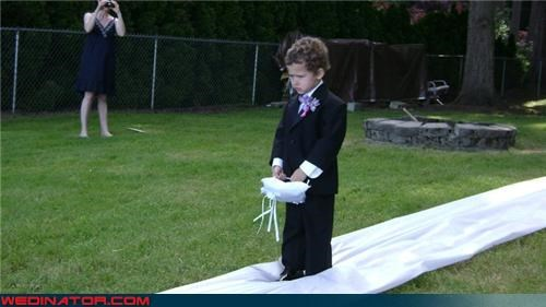 Sad Ring Bearer is Sad