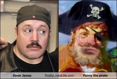 Kevin James Totally Looks Like Painty the pirate
