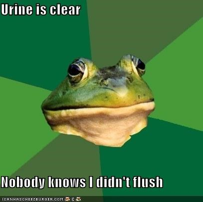 Foul Bachelor Frog: Water Conservation