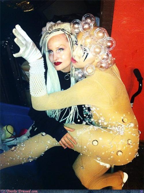 bubbles,lady gaga,scary,weird