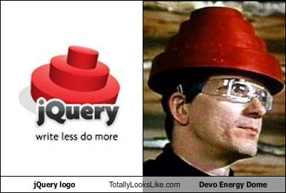 jQuery logo Totally Looks Like Devo Energy Dome