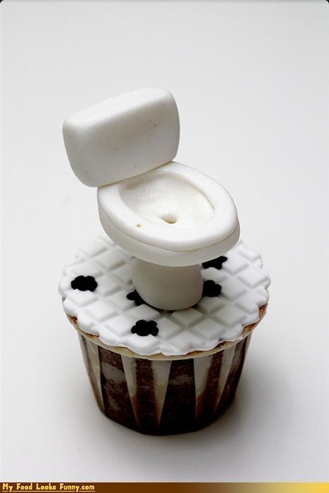cupcake,fondant,toilet
