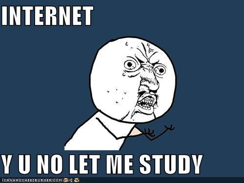 Y U NO LET ME STUDY