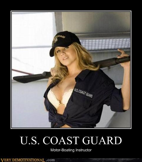 boobs,coast guard,motor-boating,shot gun