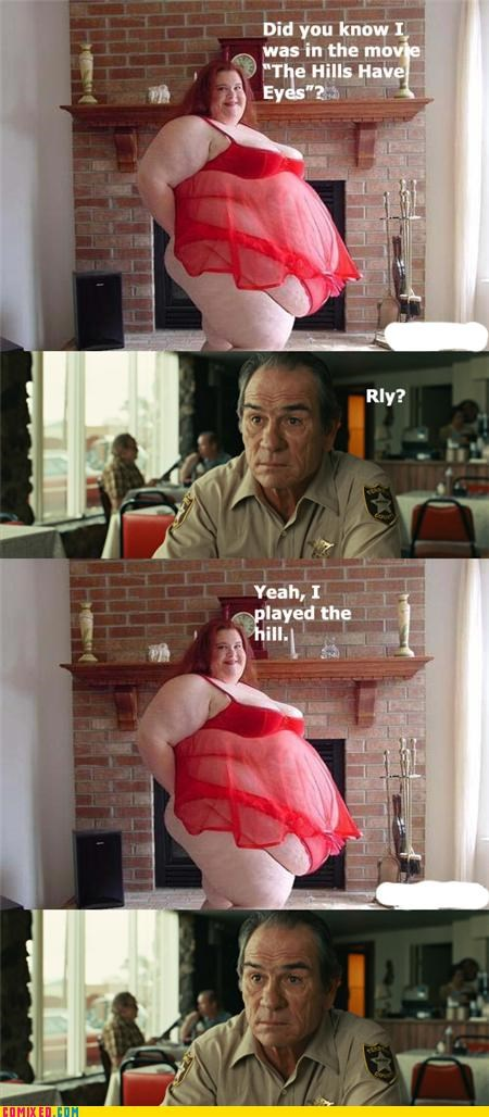 acting,beauty,fat people,From the Movies,movies,No Country For Old Men,the hills have eyes,tommy lee jones