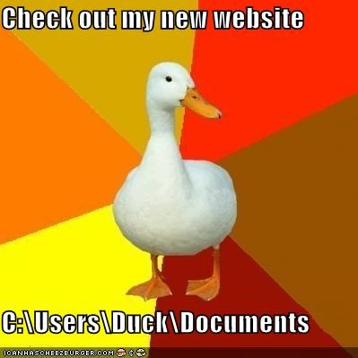 Technologically Impaired Duck: Interwebs?