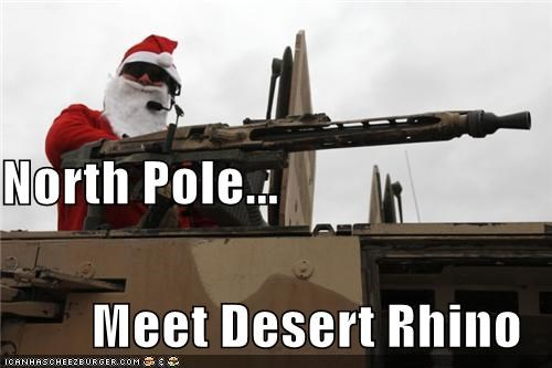 North Pole... Meet Desert Rhino