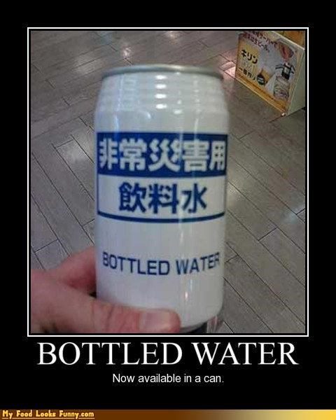 Funny Food Photos - Canned Bottled Water